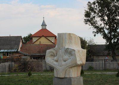 """Starmüller Géza """"Tiszta forrás"""", homokkő, 1,6m, Nagybégány"""