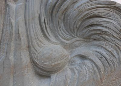 """Starmüller Géza """"Tiszta forrás"""", homokkő, 1,6m, Nagybégány"""""""