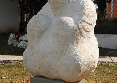 """Makoldi Sándor """"Ősanya"""", homokkő, 1,6m, Rafajna"""