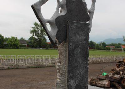 """Liu Yang """"Tisza"""", gránit, 3 m, Pro Arte Munkács szoborpark"""