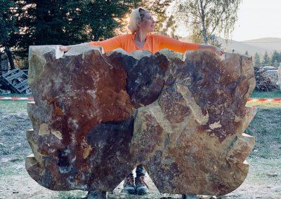 """Daria Alyoskina """"Galambok"""", homokkő, 1,8 m, Kvitka Polonini szanatórium"""